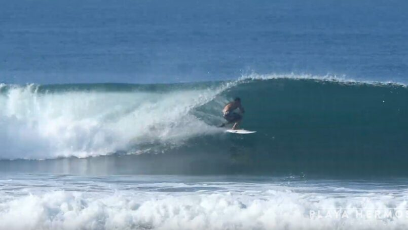 Surfing at Playa Hermosa, Costa Rica February 17, 2020