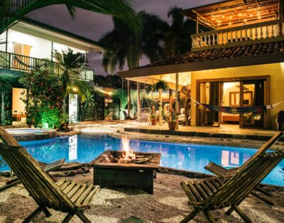 16 Bed Compound Oasis Downtown Jaco Private Pool Hottub